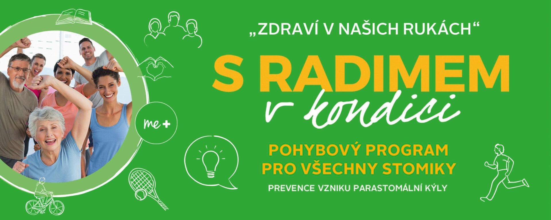 Banner: S Radimem v kondici – pohybový program pro všechny stomiky